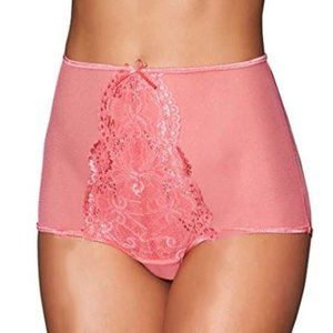 Strappy Back Pink High Waisted Lace Panties